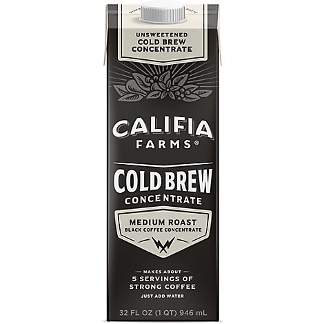 Califia Farms Coffee Cold Brew Concentrated - 32 Fl. Oz.