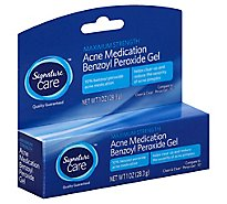 Signature Care Acne Medication Benzoyl Peroxide Gel Maximum Strength - 1 Oz
