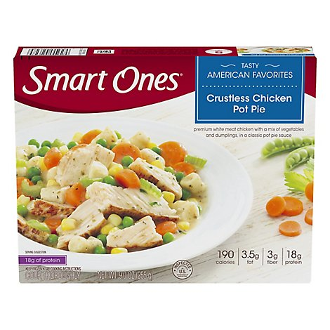 Smart Ones Tasty American Favorites Meal Crustless Chicken Pot Pie - 9 Oz