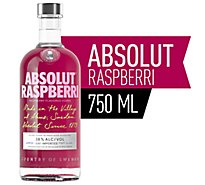 Absolut Vodka Raspberry 80 Proof - 750 Ml