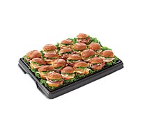 Deli Catering Tray Sliders Assorted 8 To 12 Serving - Each