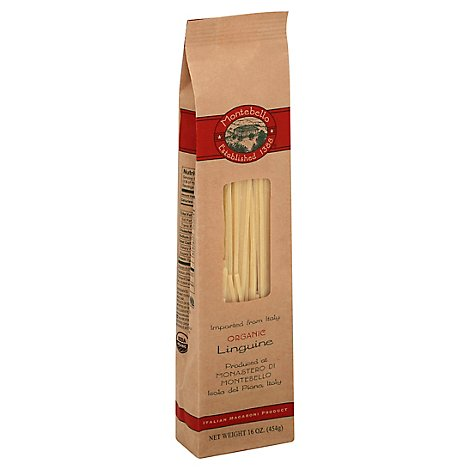 Montabello Pasta Organic Linguine Bag - 16 Oz