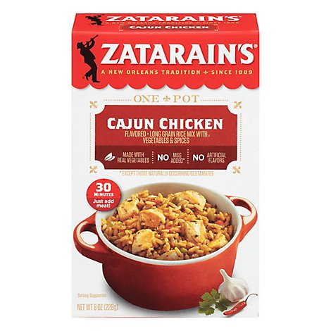 Zatarains Rice Dinner Mix Cajun Chicken - 8 Oz
