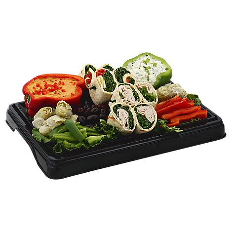 Deli Catering Tray Rolls Mediterranean 8 To 12 Serving - Each