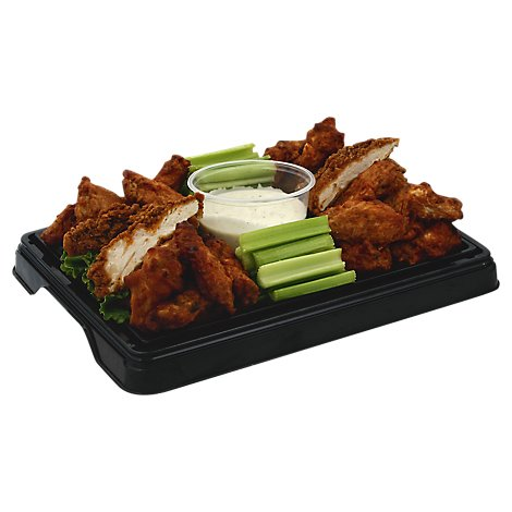 Deli Catering Tray Chicken Wings & Tenders - 8 to 12 Servings