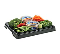 Deli Catering Tray Veggies & Hummus 8 To 12 Servings - Each