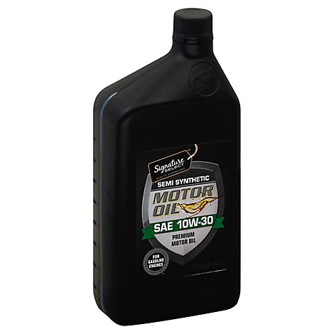 Signature SELECT Motor Oil Premium Semi Synthetic SAE 10W-30 - 1 Quart