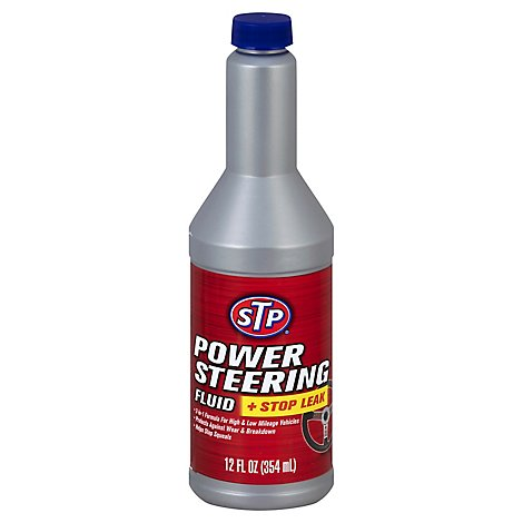 STP Power Steering Fluid + Stop Leak - 12 Fl. Oz.