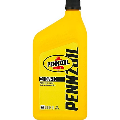 Pennzoil Motor Oil 10w-40 Weight - Quart
