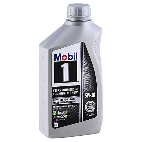 Mobil 1 5w-30 Fully Synthetic Super Motor Oil - 1 Quart