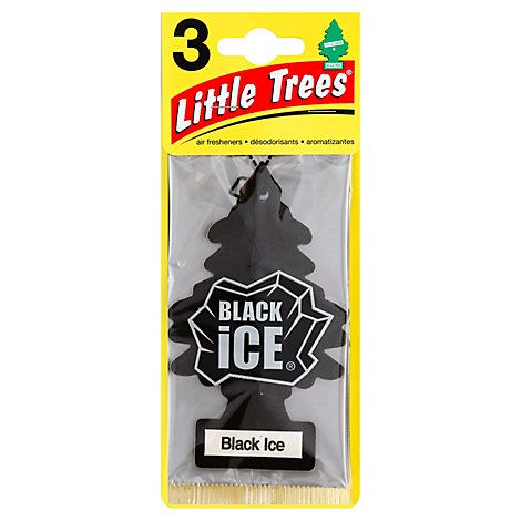 Little Trees Air Fresheners Black Ice - 3 Count