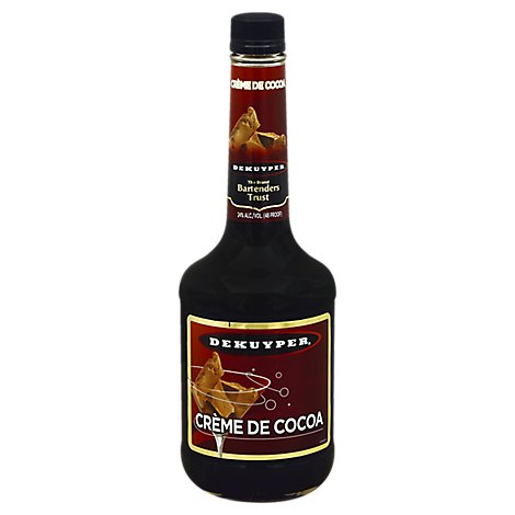 DeKuyper Creme De Cacao Dark 48 Proof - 750 Ml