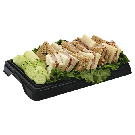 Deli Catering Tray Classic Tea Sandwiches 8 To 12 Servings - Each