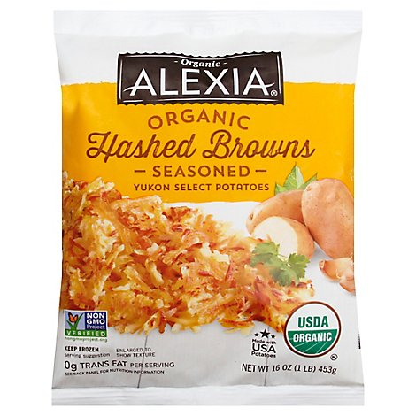 Alexia Hashed Browns Organic Seasoned Yukon Select Potatoes - 16 Oz