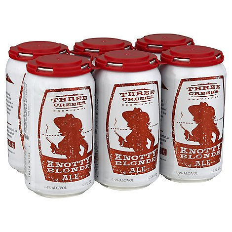 Three Creeks Knotty Blonde Ale In Cans - 6-12 Fl. Oz.