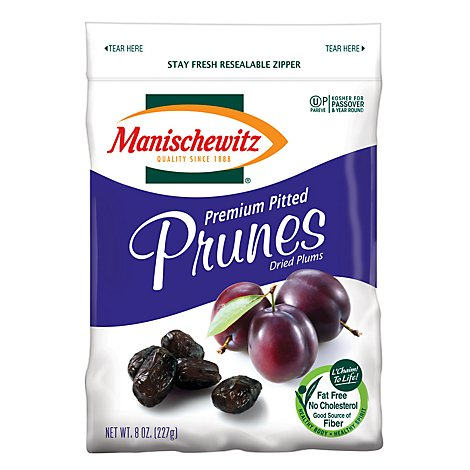 Manischewitz Prunes Dried Pitted - 8 Oz
