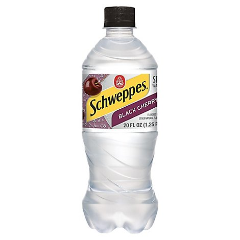 Schweppes Water Beverage Sparkling Black Cherry - 20 Fl. Oz.