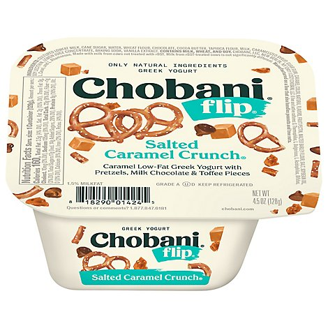 Chobani Flip Yogurt Greek Salted Caramel Crunch - 5.3 Oz