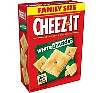 Cheez-It Baked Snack Cheese Crackers White Cheddar Family Size - 21 Oz