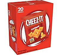 Cheez-It Baked Snack Cheese Crackers Original Single Serve 20 Count - 20 Oz