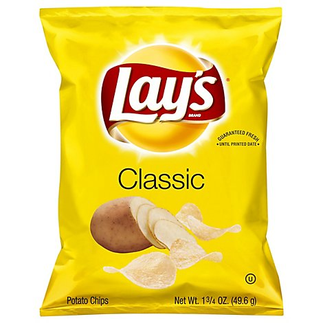 Lays Potato Chips Classic - 1.75 Oz