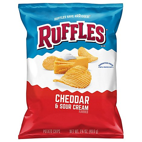 Ruffles Potato Chips Cheddar & Sour Cream - 1.75 Oz