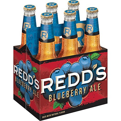 REDDS Beer Blueberry Ale 5% ABV Bottles - 6-12 Fl. Oz.