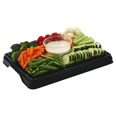 Deli Catering Tray Fresh Vegetables - 8 to 12 Servings