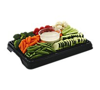 Deli Catering Tray Vegetables Fresh 8 to 12 Servings - Each
