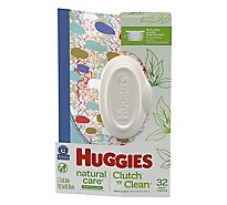 Huggies Baby Wipes Natural Care Fragrance Free Clutch N Clean - 32 Count