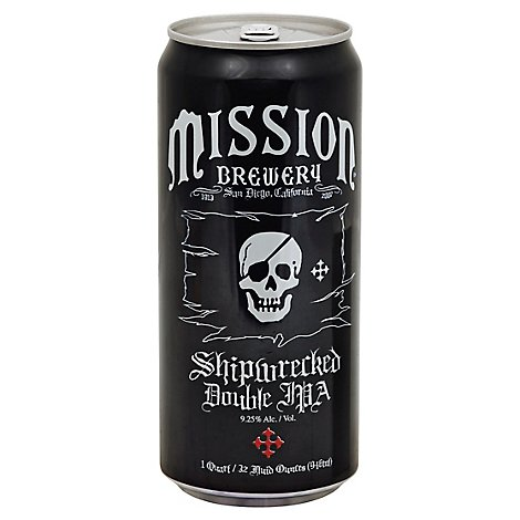 Mission Shipwreck Double Ipa In Cans - 32 Fl. Oz.