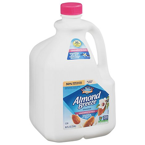 Blue Diamond Almonds Almond Breezemilk Vanilla Unsweetened - 96 Fl. Oz.