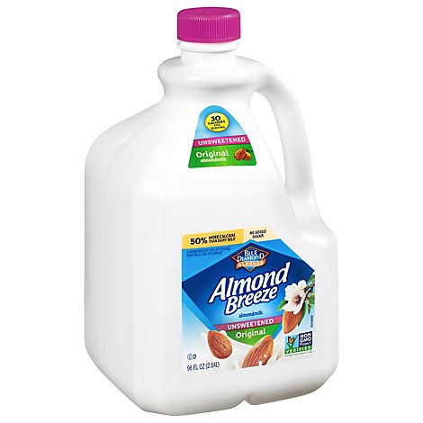 Blue Diamond Almonds Almond Breeze Milk Original Unsweetened - 96 Fl. Oz.