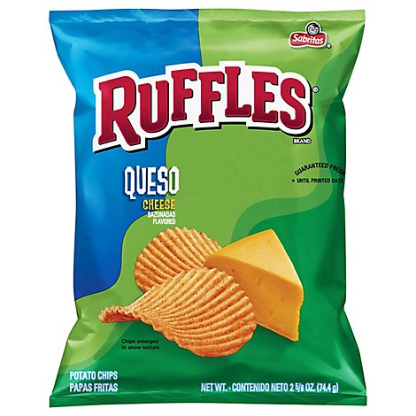 Ruffles Potato Chips Queso Cheese - 2.62 Oz