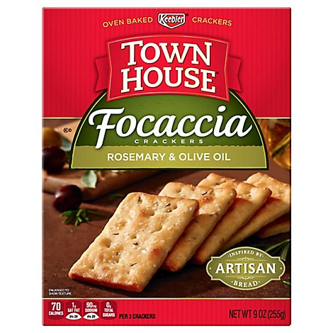 Keebler Town House Focaccia Crackers Rosemary & Olive Oil - 9 Oz