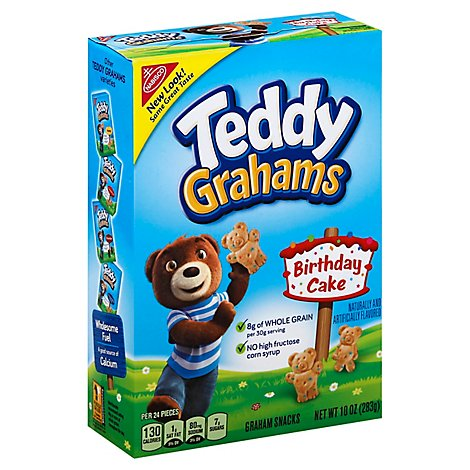Honey Maid Teddy Grahams Graham Snacks Birthday Cake - 10 Oz