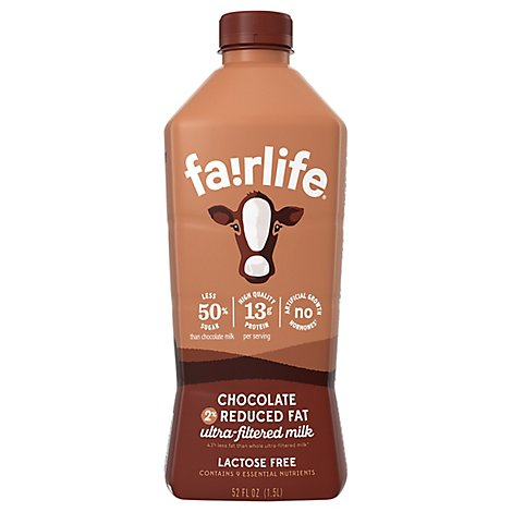 Fairlife Milk Ultra-Filtered Reduced Fat Chocolate 2% - 52 Fl. Oz.