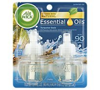 Air Wick Scented Oil Twin Refill Life Scents Turquoise Oasis - 2-0.67 Oz