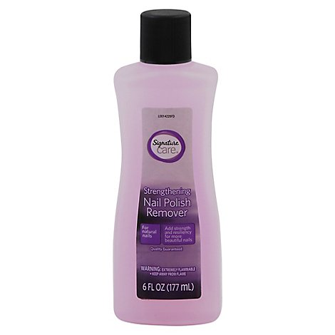 Signature Care Nail Polish Remover Strengthening - 6 Fl. Oz.