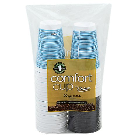 Chinet Comfort Cup Insulated Wrapper - 20 Count