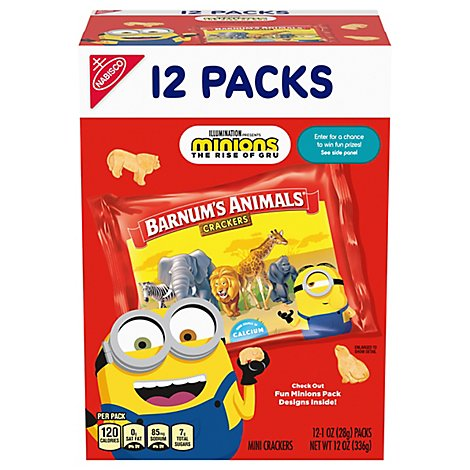 Barnums Crackers Animals Mini - 12-1 Oz