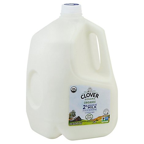 Clover Organic Milk Reduced Fat 2% - Gallon