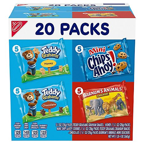 NABISCO Cookies and Crackers Variety Pack Fun Shapes Mix - 20 Count