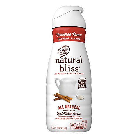 Coffeemate Natural Bliss Coffee Creamer Cinnamon - 16 Fl. Oz.