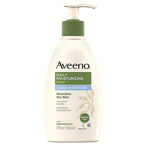 Aveeno Active Naturals Lotion Daily Moisturizing Sheer Hydration Fragrance Free - 12 Fl. Oz.