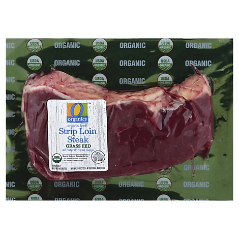 O Organics Organic Beef Grass Fed Strip Loin Steak - 0.50 LB