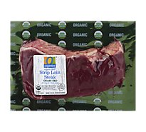 O Organics Organic Beef Grass Fed Strip Loin Steak - 1 LB