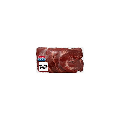 Meat Counter Beef USDA Choice Chuck Blade Steak Value Pack - 2.50 LB