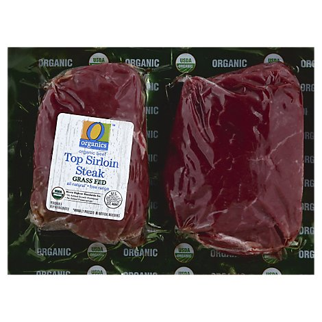 O Organics Organic Beef Grass Fed Top Sirloin Steak - 1.00 LB