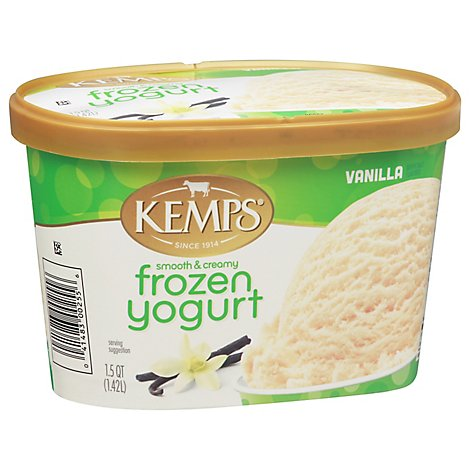 Kemps Yogurt Frozen Low Fat Smooth Creamy Vanilla - 1.5 Quart